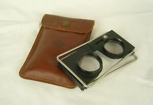 Casella Of London Vintage Foldable Stereoscope with Leather Case