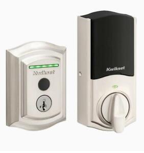 Kwikset Halo Touch Fingerprint Satin Nickel Single-cylinder Electronic Deadbolt