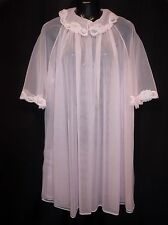 VTG. GAYMODE Pink DOUBLE CHIFFON PEIGNOIR Robe Lingerie  Women's Size MEDIUM