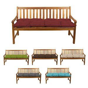 per interni ed esterni grigio scuro, 120 x 30 cm LRuilo Cuscino per panca con laccetti di fissaggio cuscino da giardino a 2 o 3 posti cuscino per sedia da 80//100//120 cm