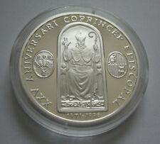 Andorra 10 Diners 1996 25. mutuo soccorso dell'episcopato anno vescovo Jon Marti EURO ARGENTO PP
