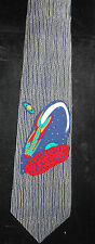SPACE SHIP & ROCKET 54'' NECKTIE TIN TOYS CLUB MUSEUM YOKOHAMA ~RAY ROHR COSMIC