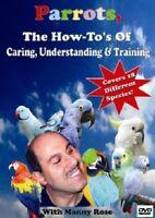 PETS, PARROT, PARROTS, BIRDS How To DVD On Choosing, Caring, Training & PET BIRD