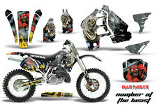 Honda CR500 With # Plate Graphics Kit Dirt Bike Wrap MX Decals 1989-2001 IM NOTB
