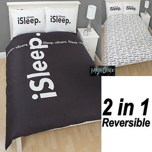 I Style I Sleep Reversible DOUBLE Duvet Cover Bed Set New Gift