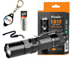 Fenix LD12 2017 Ed. 320 Lumen LED Flashlight w/ Extra AA Battery Keychain Light
