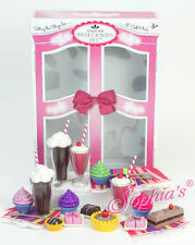 "Doll Clothes AG 18"" Sophias Soda Fountain Sweet Toy Set For American Girl Dolls"