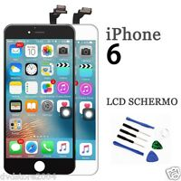 TOUCH SCREEN FRAME LCD DISPLAY RETINA SCHERMO PER APPLE IPHONE 6 4.7 BIANCO