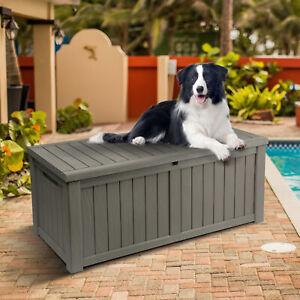 YITAHOME Outdoor Storage Deck Box Backyard Patio Big Container Box Weatherproof