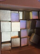Wholesale Lot Of 100 Gift Ring Jewelry Box #22 Gold Solid Top Cotton Filled USA