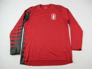 Stanford Cardinal Nike Long Sleeve Shirt Men's Red Dri-Fit NEW Multiple Sizes