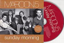CD CARTONNE CARDSLEEVE MAROON 5 SUNDAY MORNING + SHIVER LIVE ETAT NEUF
