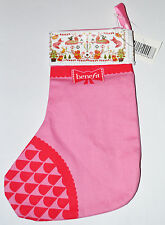 "Benefit Beauty to Go Pink and Red Small Christmas Stocking BNIP 8.5"" x 5.5"""