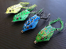 Topwater Popper Soft Frog Lures Fishing Surface Lure Cod Barra Bass Spinnerbait