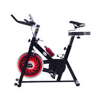 Upright Exercise Bike Bicycle Cardio Pedal Cycle Belt Drive Trainer LCD Monitor