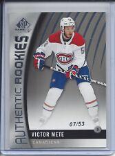 17-18 SP GAME USED TRUE ROOKIE #88 VICTOR METE SP RC 07/53 CANADIENS