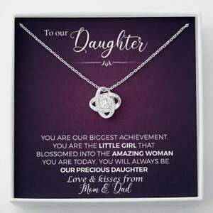 To Our Daughter, You Are Our Biggest Achievement Love Knot Necklace  Daughter