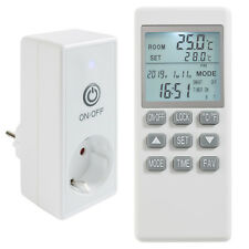 Arebos Steckdosenthermostat Raumthermostat Temperaturregler für Infrarotheizung
