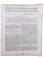 Condorcet Chronique de Paris 1792  La Patrie en Danger Ardèche Révolution France
