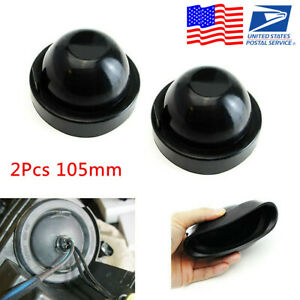 2pcs 105mm Rubber Housing Seal Cap Dust Cover Car LED HID Headlight Kit Retrofit