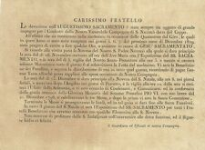 """Venerabile Compagnia S. Niccolò Bari """"Ceppo"""" Firenze Esposizione SS. Sacramento"""