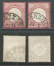 Germany Reich 1872 years, 2 used stamps