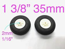 "1Pair Ultra Light Weight PU Wheels for RC Airplane 1 3/8"" x ⌀1/16"" TH006-04201"