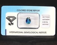 IGI CERTIFIED BLUE SAPPHIRE : 2,20 Ct Natürlicher Blau Saphir aus Sri Lanka