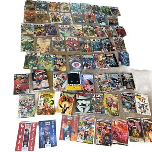 DC HUGE Lot of 67 DC  Comics Books & Books  Pre Owned With Sleeves Mostly