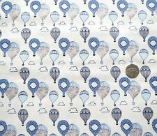 Head in the clouds Balloons blue fabric fat quarter 50x56 cm FF161-1 100% Cotton