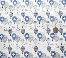 Cabeza en las nubes Globos cuarto Gordo Tela Azul 50x56 cm FF161-1 100% algodón