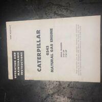 CATERPILLAR CAT ENGINE G342 342 OPERATION MAINTENANCE 31B1-UP 71B