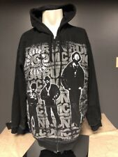 Run Dmc Tougher Than Leather Tour Black Hoodie Size Large Rockwear