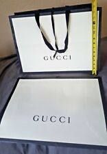 0f56fef31ea3 Lot of 5 Large Gucci White/Black Paper Shopping Bags - 14