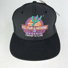 Nba 1995 Allstar Weekend Hat Black Vtg Snapback c1