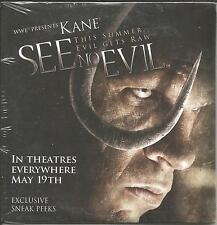 KANE WWE See No Evil LIMITED EDITION Sneak Peek PROMO DVD SEALED USA 2006