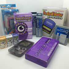 Japanese Purple Nintendo Gameboy Pocket Printer Camera Accessories Job Lot