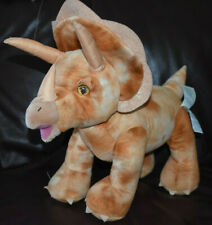 LARGE 16in BUILD A BEAR TRICERATOPS DINOSAUR SOFT TOY - brown