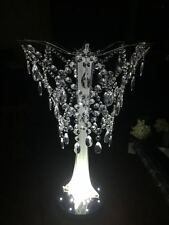 "10""Iridescent Bead Chandelier Acrylic Crystal Hanging Party Wedding Centerpiece"