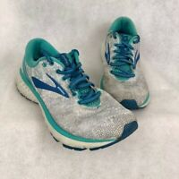 Brooks Womens Ghost 11 Running Shoes Gray 1202771B118 Low Top Lace Up 8.5 B