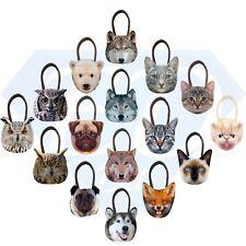 New 3D Fashion Cute Animal Face Shopping / Shoulder Handbag Pug Cat Owl Fox