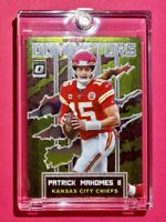 Patrick Mahomes OPTIC DOMINATORS EMBOSSED SPECIAL INSERT PREMIUM CARD - Mint!
