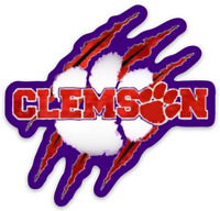 "Clemson Tigers ""Paw Scratch"" Type Magnet"