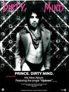 """1980  Prince  """"Dirty Mind"""" Song Release  Reproduction Promo  Ad Print"""