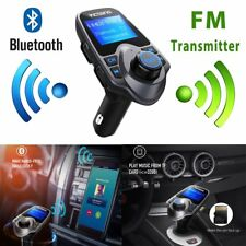 Wireless Fm Transmitter Bluetooth Aux Stereo Audio Receiver Radio Usb Adapter Us