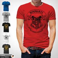 Hogwarts School Mens Tshirt T Shirt Red T-Shirt Harry Potter Large Cotton XXL