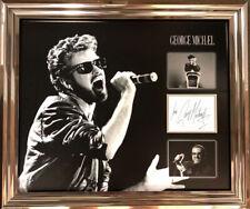 George Michael Wham signed & Framed display AFTAL & UACC + COA Registered Online