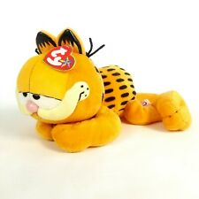 "TY Beanie Buddy GARFIELD plush the Cat relaxing  11"" stuffed animal"