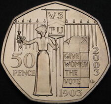 GREAT BRITAIN 50 Pence 2003 - Suffragette Movement - aUNC - 329 ¤