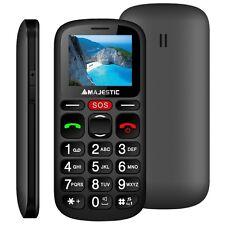 Majestic sileno30n telefono cellulare per anziani con tasti grandi e sos  e NERO